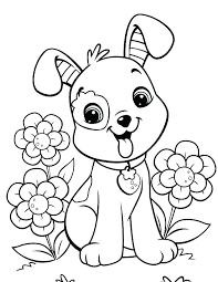Kitten Coloring Pages Puppy And Kitty Adult Puppies Pictures Free