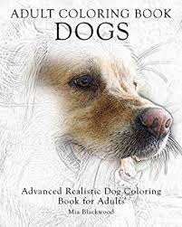 2 Adult Coloring Book Dogs Advanced Realistic For Adults Volume