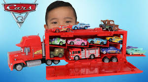 100 Mack Toy Trucks NEW Disney Cars 3 S Playcase Unboxing Fire Truck Lightning