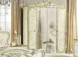 schlafzimmer kleiderschrank beige hochglanz leonardo barock