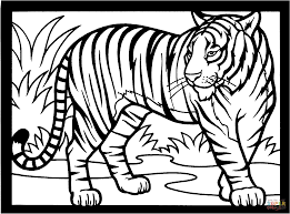 Homely Design Tiger Coloring Pages