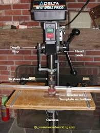 drill press table jigs fine woodworking workshop ideas