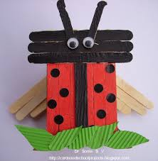 Cards Crafts Kids Projects Popsicle Stick Craft Tutorial Ladybird And Owl