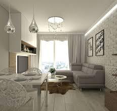 20 qm wohnzimmer einrichten weiß hellgrau metallglanz