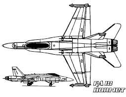Airplane FA 18 Hornet Jet Fighter Coloring