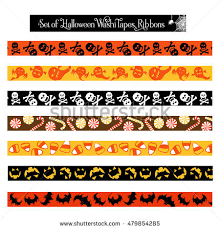 Halloween Washi Tape Australia by Day Dead Mexican Holiday Set Patterned Stock Vector 709331905