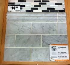 carrara marble subway tiles green notebook