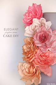 DIY Paper Rose Cake By Miso Bakes