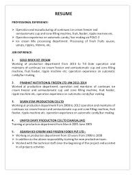 Machine Operator Resume For Production Job Objective