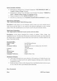 Activity Resume For College Sample Inspirational Activities
