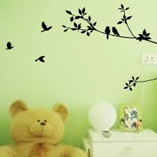 Amazing Aliexpress Buy Removable Tree Branch And Bird Wall Stickers For Art Modern