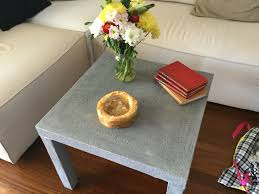 Lack Sofa Table Birch by Ikea Lack Table With A Thin Layer Of Concrete For A Complete