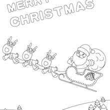 Christmas Tree Sleigh Poster Coloring Page