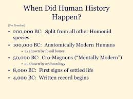 a history of human civilization ppt