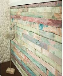 Vintage Colored Wood Self Adhesive Peel Stick Wallpaper Film D C FixR 45cm X 2m