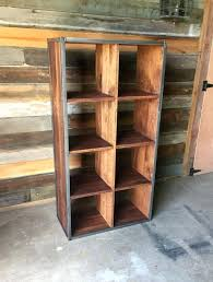 Reclaimed Wood Bookcases Double Cube Bookcase Bookshelf Bookshelves Toronto