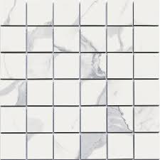shop style selections calacatta white squares mosaic