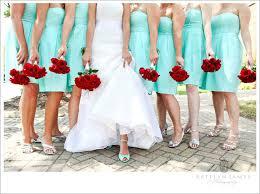 Red And Aqua Wedding Ideas