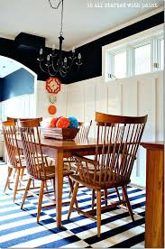 Board And Batten Dining Room Navy White Walls Paint Blue Chair Covers