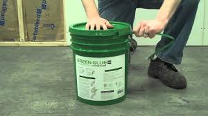 Certainteed Ceiling Tile Distributors by Applying Green Glue Noiseproofing Compound From A 5 Gallon Pail