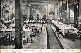 ansichtskarte postkarte berlin lichtenberg restaurant schwarzer adler inh gebr arnold frankfurter chaussee 5