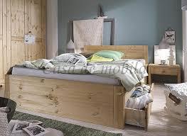 massivholz bett 100x200 komforthöhe xl schubladenbett kiefer gelaugt geölt
