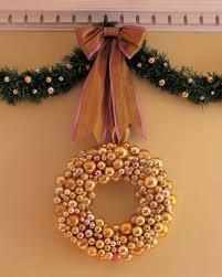 Martha Stewart 75 Foot Christmas Trees by Glass Ball Wreath Martha Stewart