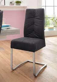 esszimmerstuhl 2er set mit federkern schwarz material microfaser polyester metall edelstahl salva schwingstuhl 1 mca furniture