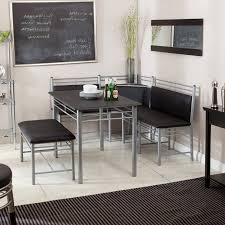 Kitchen Diner Booth Ideas by Nook Table Set Dining Elegant White Wooden U Shaped Bench And