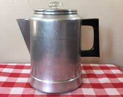 Vintage COMET Aluminum Percolator Coffee Pot 9 Cup Size Complete Clean Ready To Be Used Farmhouse Country Kitchen Camping