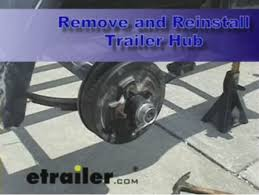 Parts for Lugged Hubs on a Mobile Home Axle with inner and