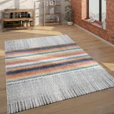 teppich wohnzimmer ethno geometrischen muster kurzflor geometrischen grau und bunt grösse 300x400 cm
