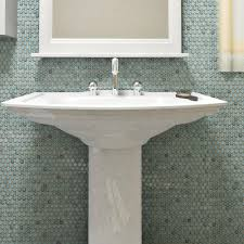 Home Depot Merola Hex Tile by Merola Tile Hudson Penny Round Marine 12 In X 12 5 8 In X 5 Mm