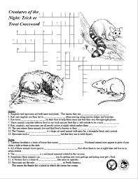 Cabinet Dept Crossword Puzzle Clue by Creatures Of The Night Crossword Puzzle Texas Wildlife