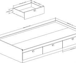 Dark Daybed Drawers Trundle Bed Extension Drawers Dimensions