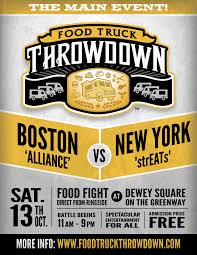 Food Truck Throwdown: Boston Vs. NY, 10/13/12. #foodtruckthrowdown ... Clover Will Not Be At The Boston Food Truck Festival Thing Epic Failure Trucks Suffolk Downs Mei Street Kitchen The Food Community Is Our Family Bingemans Sowa Hours Best 2018 Fringham Kismet Catering Gastronauts A Fork In Road In Blue Hills Bank Its Kriativ