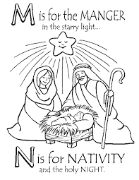 Printable Nativity Coloring Sheet