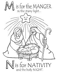 Printable Nativity Coloring Sheet