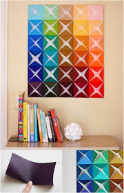 Wall Art Designs Diy Folded Square Paper Full Color Ideas For Your Creative