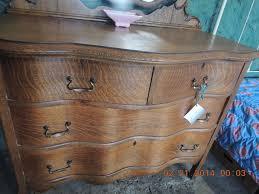antique oak serpentine dresser with beveled mirror sold on ruby lane