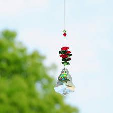HD Christmas Ornaments 50mm Maple Leaf Crystal Chandelier Hanging Pendant Rainbow Suncatcher Home Window Garden Decor