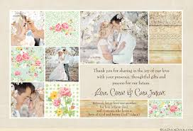 Floral Country Chic Wedding Thank You Card Main Image