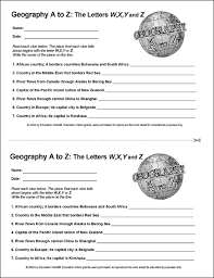 Geography A to Z The Letters W X Y and Z