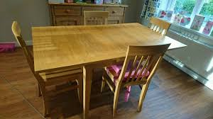 John Lewis Oak Extending Dining Table And Four Quebec Chairs