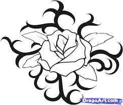 How To Draw A Rose Tattoo Step 8