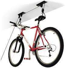 Ceiling Bike Rack For Garage by Bicycle Storage Pulley Hoist Strong Basement Garage Cycle Rack