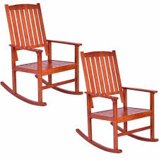 Set Of 2 Wood Rocking Chair Porch Rocker Indoor Outdoor ... Whosale Rocking Chairs Living Room Fniture Set Of 2 Wood Chair Porch Rocker Indoor Outdoor Hcom Traditional Slat For Patio White Modern Interesting Large With Cushion Festnight Stille Scdinavian Designs Lovely For Nursery Home Antique Box Tv In Living Room Of Wooden House With Rattan Rocking Wooden Chair Next To Table Interior Make Outside Ideas Regarding Deck Garden Backyard