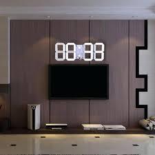 Hot Selling Large Led Digital Wall Clock Modern Design Remote Control Home Decor 3d Decoration Big Square Online Clocks India