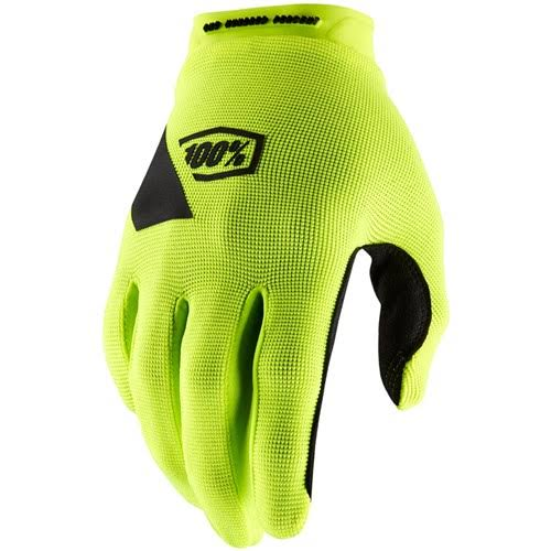 100 Percent Ridecamp MTB Gloves - Fluorescent Yellow, Large