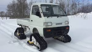 Suzuki Carry Mini-Truck On Tracks - YouTube American Track Truck Car Suv Rubber System Canam 6x6on Tracks Atv Sxs Quads Buggies Pinterest Atv Halftrack Wikipedia Major Snowshoes For Your Car Snow Track Kit Buyers Guide Utv Action Magazine Gmc Pickup On Snow Tracks Tote Bag Sale By Oleksiy Crazy Rc Semi 6wd 5 Motors Pure Power Testimonials Nissan Tames Snow With Winter Warrior Track Trucks Video